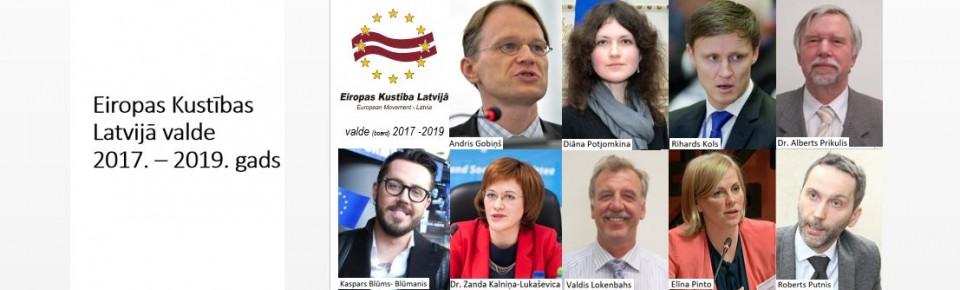 Eiropas Kustībai Latvijā valde 2017. – 2019. gadam